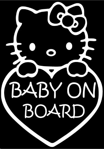 Baby on Board Hello Kitty funny car auto vinyl sticker decal USA SELLERS NEW