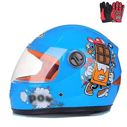 ZJRA Motocross-Helm Für Kinder, Motorradhelm Für Kinder, Jungen Und Mädchen, Cartoon-Stil Halbhelm, Sport Im Freien…