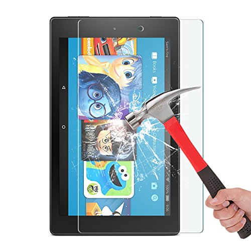 2017 All-New Fire HD 8/Fire HD 8 Kids Edition Screen Protector - OMOTON Tempered Glass Screen Protector for All New Fire HD 8 and Kids Edition (2017 Release)