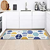 best flooring for a kitchen Kitchen Rug Mat, Standing Anti Fatigue Comfort Flooring Door Mat with Non-Slip Rubber Back, Oil Proof Floor Mat and Easy to Clean