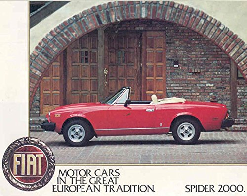 1980 Fiat Spider 2000 Sales Brochure from Fiat