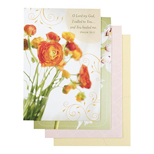 Get Well - Inspirational Boxed Cards - Floral (Well Boxed Cards)