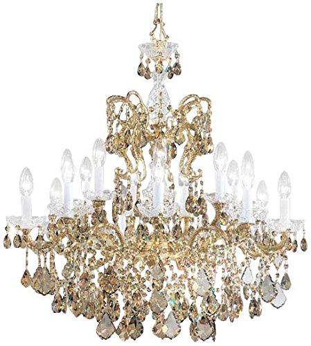 Classic Lighting 5548 OWB SGT Madrid Imperial, Crystal Cast Brass, Chandelier, 30.0