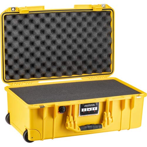 1535Air 2017 Wheeled Carry-On Case with Pick-N-Pluck Foam (Yellow) [並行輸入品] B07MK6STXG