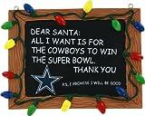 Dallas Cowboys Resin Chalkboard Sign Ornament