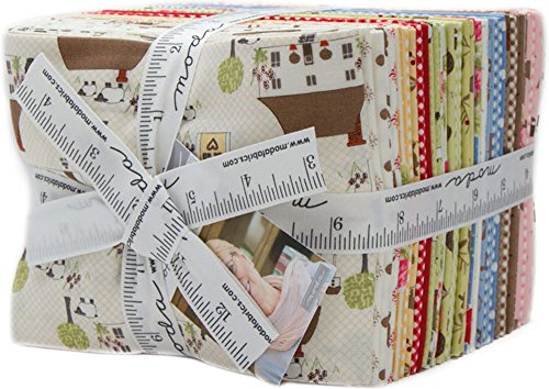 Bunny Hill Designs Cottontail Cottage 30 Fat Quarters Moda Fabrics 2920AB by Moda Fabrics