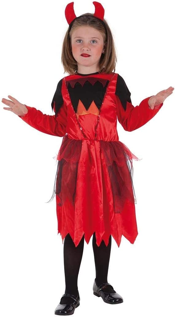 Creaciones Llopis Disfraz Infantil Diabla ROJA T-L (10 A 12 AÑOS ...