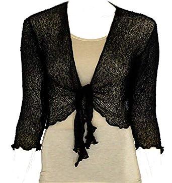 low priced 98f91 42f03 Coprispalle bolero da donna in maglia traforata, ampia vestibilità,  lavorato a maglia