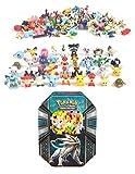 24 Pokemon Figures Mini Cake Topper with Storage Tin