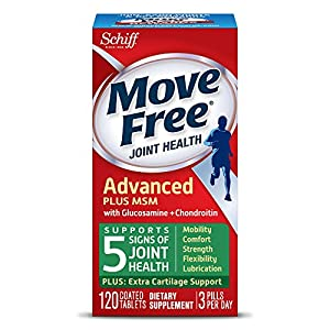 Move Free Advanced Plus MSM, 120 tablets - Joint Health Supplement with Glucosamine and Chondroitin