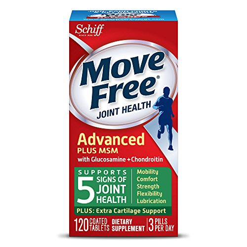 Move Free Advanced Plus MSM, 120 tablets - Joint Health Supplement with Glucosamine and - Plus Glucosamine Msm