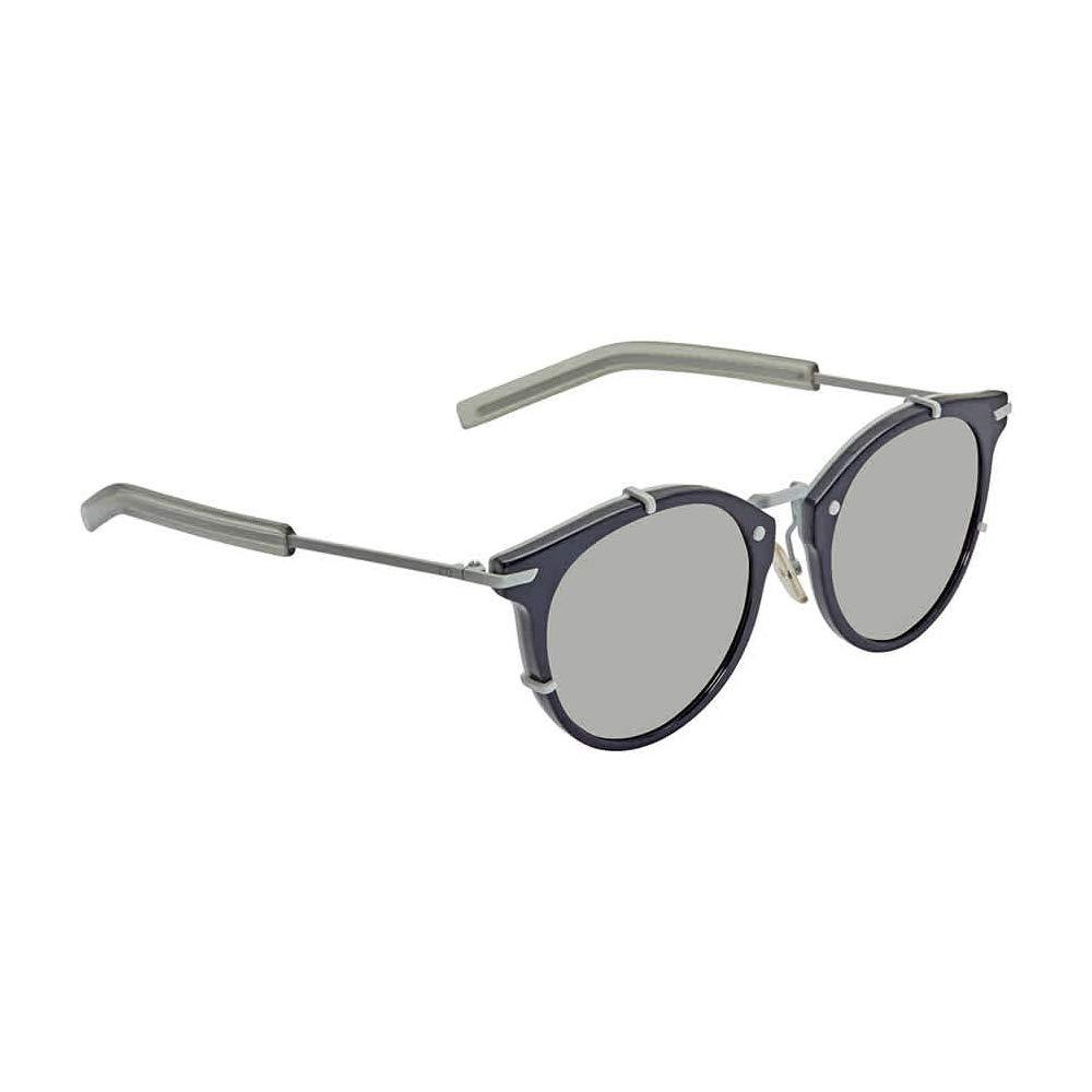 Christian Dior 0196/S Sunglasses Blue Matte White / Silver Mirror