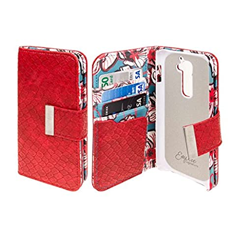 LG G2 Wallet Case, EMPIRE KLIX Klutch Designer Wallet [4 Slots] Inner Hard Polycarbonate Felt Lining Case for G2 with Magnetic Flap & Hand Strap [Perfect Fit & Precise Port] - Bold Teal (Lg G2 Phone Case Magnetic)