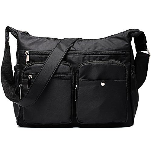 Bomtada Women Travel Black Crossbody Bag Messenger Bag