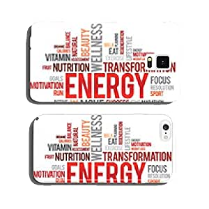 ENERGY word cloud, fitness, sport, health concept cell phone cover case Samsung S5