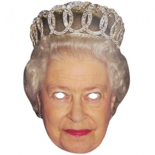 Queen Elizabeth Ii Celebrity Face Mask - Two Face Costume Uk
