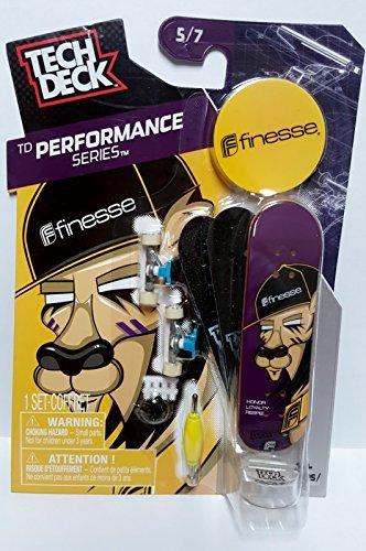 Tech Deck TD Performance Series Finesse Finger Skateboard 5/7 w Display - Tech Deck Display