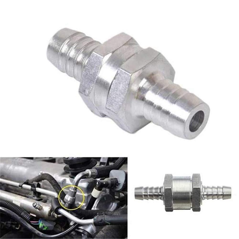 Diesel 1//2 Acqua per Auto da 1//4 5//16 3//8 omufipw Valvola di ritegno unidirezionale in Alluminio per Carburante Benzina