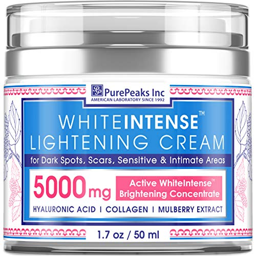 Dark Spot Corrector Cream for Face and Sensitive Skin - Made in USA - Skin Lightening Cream Infused with Potent Natural Alpha Arbutin (Glycosylated Hydroquinone) + Hyaluronic Acid & Collagen - 1.7 oz (Best Foundation Cream For Indian Skin)