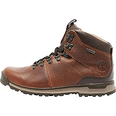 timberland men's gt scramble mid gore-tex hiking boots brown