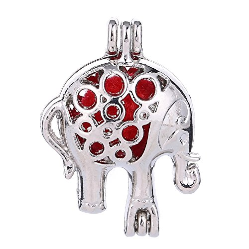 Three Fish 10Pcs Stainless Steel Tones Wish Bead Cage Pendant - Add Your Own Pearls, Stones, Rock to Cage,Add Perfume Essential Oils Diffusing Pendant Charms. (Elephant) - Fish Sterling Silver Charm Pendant
