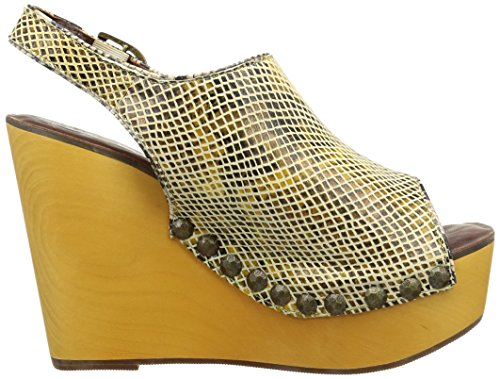 Snake brown Sabot Campbell Snick Zoccoli E Beige Beige Donna Jeffrey PwBSExqZ