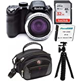 Kodak PIXPRO Astro Zoom AZ421 16 MP Digital Camera with 42X Opitcal Zoom and 3 LCD Screen (Black) 32GB Bundle