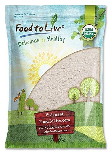 Food to Live Harina de cebada Bio certificada (Eco, Ecológico, no OGM,