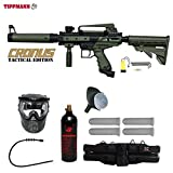Tippmann Cronus Tactical Silver Paintball Gun Package - Black / Olive