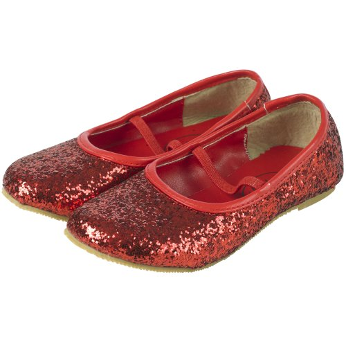 Girls Red Glitter Shoes (size 28): Amazon.co.uk: Toys & Games