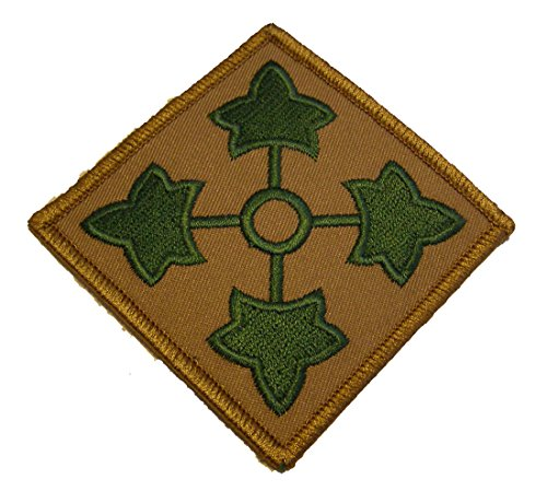 4th Id Patch (Army 4TH Infantry Division PATCH - Shoulder Style PATCH Color - Veteran Owned)