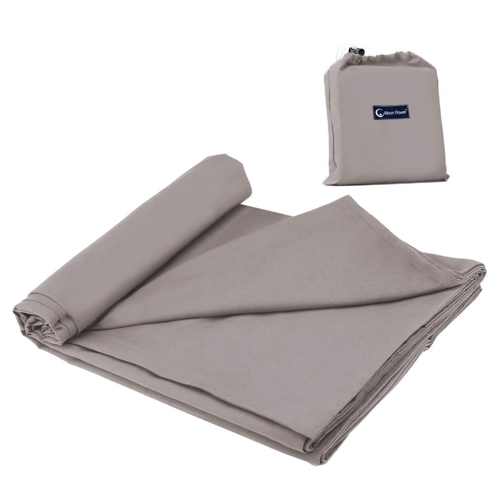 Sleeping Bag Liner Travel and Camping Sheet Lightweight Compact Sleep Bag Sack Picnic (82.7 X 45 Inch, Kahki Grey) by Mannice