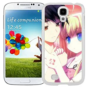 Popular And Unique Designed Cover Case For Samsung Galaxy S4 I9500 i337 M919 i545 r970 l720 With Boy Girl Tenderness Touching Sunset white Phone Case BY icecream design