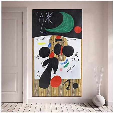 WSTDSM Joan Miroes Lienzo Pintura Impresión Sala De Estar Decoración del Hogar Arte De La Pared Pintura Póster Imágenes 24X36 En Sin Marco