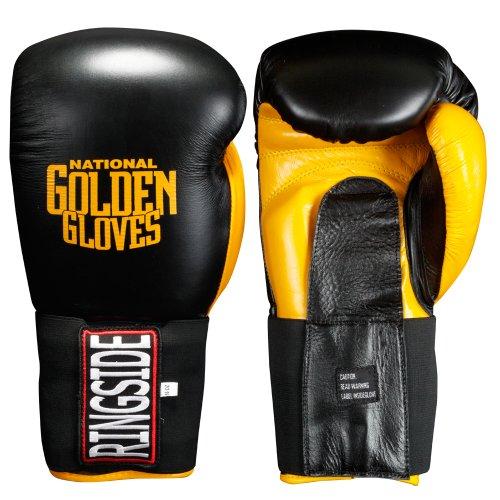 Ringside Golden Gloves Molded Foam Sparring Gloves, Black, 14-Ounce