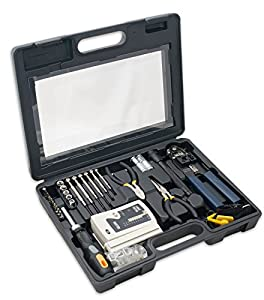 Syba 50 Piece Computer Network Installation Tool Kit with Multi-Module Cable Tester (SY-ACC65047)