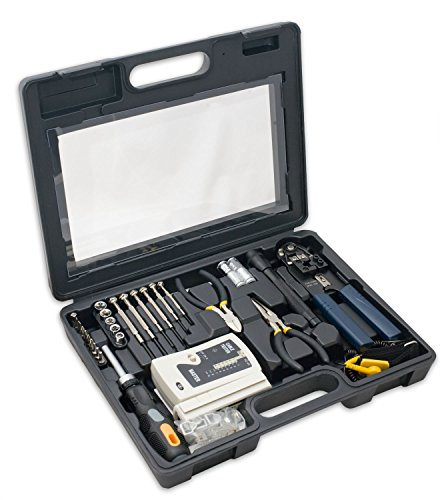 Installation Tool Kit (Syba 50 Piece Computer Network Installation Tool Kit with Multi-Module Cable Tester (SY-ACC65047))