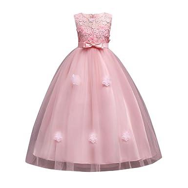 cedea0936142 Hougood Girls Dresses Prom Dresses for Kids Flower Girl Fancy Party Dress  Princess Dress up Summer