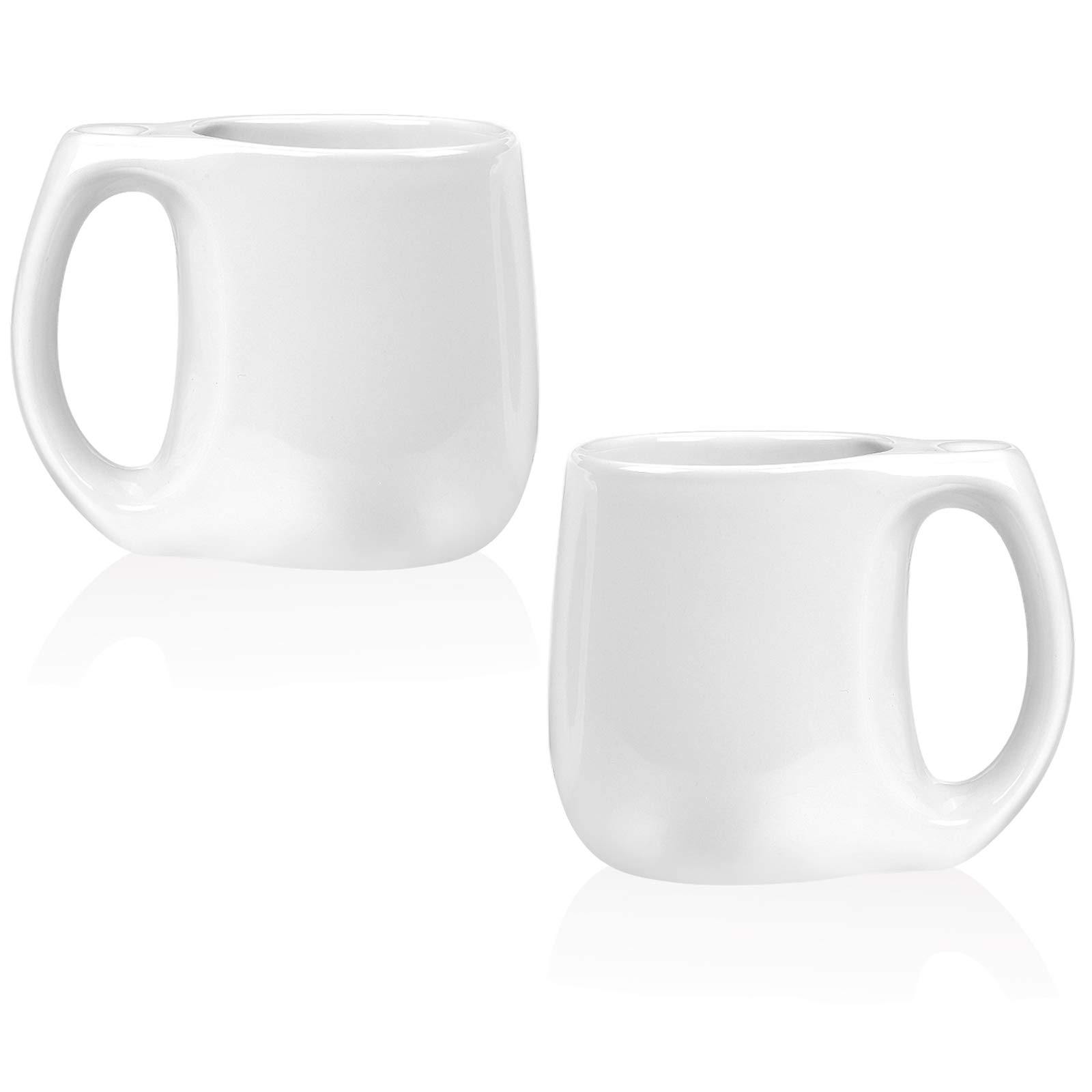 16OZ Porcelain Mugs,set of 2 Coffee Mugs,White
