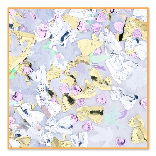 Weddng Bliss Confetti (Pack of 96) by Beistle
