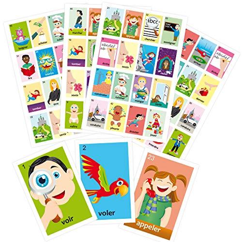 ARTE IMPERIAL Bingo verbs in French. Loto des verbes Francais (French Bingo Game)