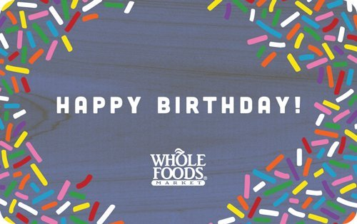 Whole Foods Market Happy Birthday Gift Cards - E-mail Delivery ...