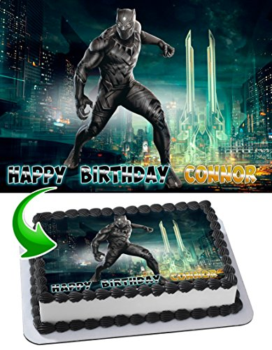 Price comparison product image Black Panther Edible Image Cake Topper Personalized Icing Sugar Paper A4 Sheet Edible Frosting Photo Cake 1 / 4 ~ Best Quality Edible Image for cake
