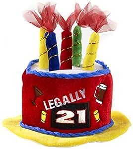 1 X Legally 21 Birthday Cake Hat by Forum Novelties