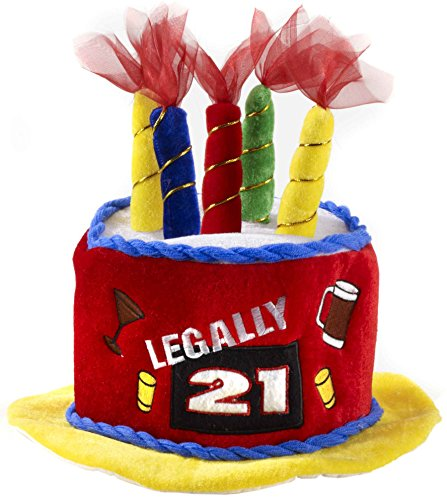 Legally 21 Birthday Cake Hat Amazoncouk Toys Games
