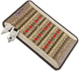 "Amethyst Jade Tourmaline FIR PEMF Photon Mat - Mini 32''L x 20""W - Adjustable 86-158F Far InfraRed Heating Pad - Bio Stimulation Red Light - Ion - Pulsed Magnetic Therapy - FDA Registered Manufacturer"