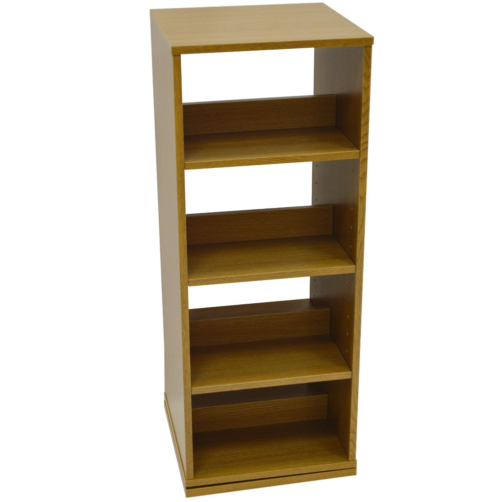 SWIVEL   4 Tier Rotating 200 CD / 96 DVD Blu Ray Game Storage Shelves