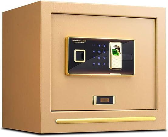 BYFF Caja Fuerte De Seguridad Digital Huella Dactilar Biométrica Caja De Seguridad Grande De 40x32x36cm con Pantalla LED Construcción De Acero Sólido para Medicación De Pistola De Hotel En Casa: Amazon.es: Hogar