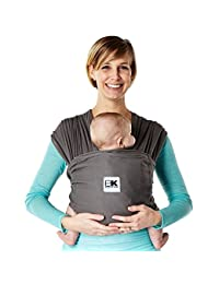 Baby K'tan BREEZE Cotton Mesh Wrap style Baby Carrier, Charcoal, Medium BOBEBE Online Baby Store From New York to Miami and Los Angeles