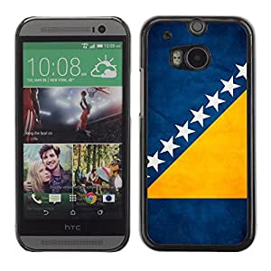 Shell-Star ( National Flag Series-Bosnia and Herzegovina ) Fundas Cover Cubre Hard Case Cover para All New HTC One (M8)